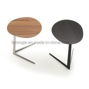 Современное кафе деревянный кофейный столик с ног из нержавеющей стали