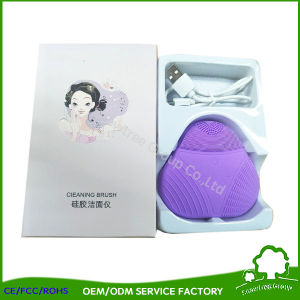 Massagem Facial Face Silicone pincel limpo