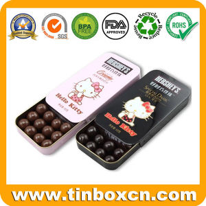 Mini personalizado rectangulares pequeñas latas de Chocolate para el Festival de Navidad regalos