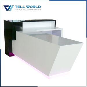 Petit bureau de l 39 acrylique surface solide comptoir de for Surface de bureau