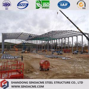 La estructura de acero pesado la construcción de instalaciones industriales con carrocería