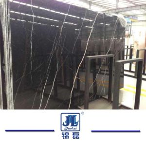 Het Zwarte Nero Marquina Marmer van China voor Bevloering/Tegel/Trede/Countertops/Keuken/Badkamers/Muur/Vloer/Plak