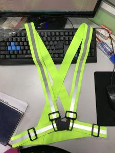 Elástico de alta visibilidad Chaleco reflectante de seguridad hebilla para los trabajadores viales