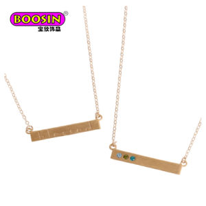 Monili in bianco su ordinazione della collana della barra di nome del metallo resi personali 2017 modi