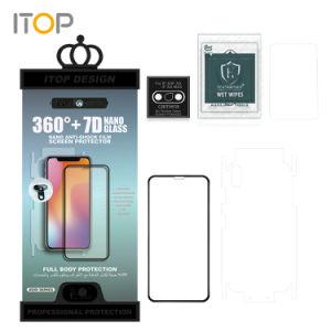 Mayorista de accesorios para teléfonos móviles de fábrica para la película protectora flexible Cristal Anti-Shock Nano Protector de Pantalla para iPhone 11 7 7 más 8 8 Plus X