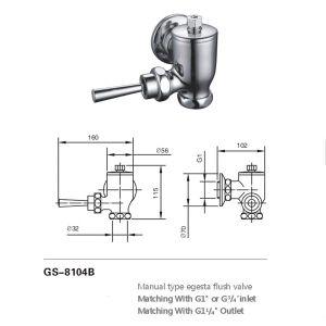 Verspätung-Toiletten-bündigeres Ventil (8104B)