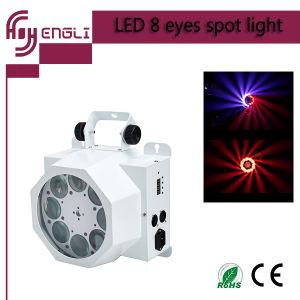 Los nuevos LED 8PCS KTV/bar de la luz de la etapa de análisis de Spot