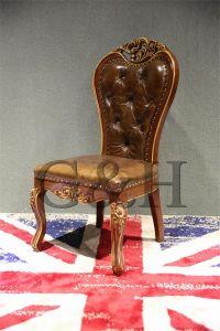 椅子を食事する型のレトロ様式の純木