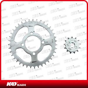 Conjunto da Roda Dentada de moto e peças de motos de engrenagem para televisores 100/Bajaj CT100