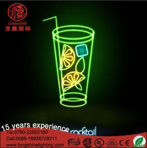 Segno su ordinazione al neon chiaro esterno per la decorazione di Avertising del negozio di alimento