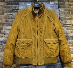 Nuevo diseño de moda amarillo chaqueta de cuero de PU ropa para hombres