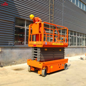 4-14m de 320 kg 450kg que funcionan con batería eléctrica hidráulica Autopropulsada móvil elevador de tijera vertical con precios baratos