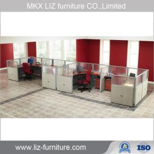 Armario de oficina 2 persona popular estación de trabajo con la partición de alta 2109