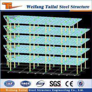 La estructura de bastidor de acero prefabricada de construcción del edificio de oficinas para la industria de multicapas de fábrica