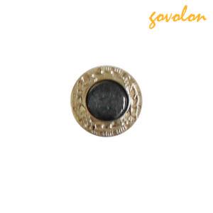 Bouton Nouvelle perle ronde avec bord métallique