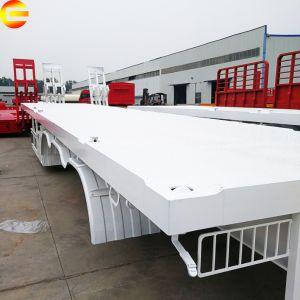 Transports petit cheval lit plat Tri-Axle faible pont Conteneur réfrigéré 20FT Hino semi remorque de camion