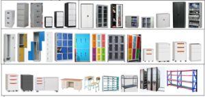 Nieuw Kabinet van de Opslag van de Stijl 3 de Kast van het Metaal van de School van de Deur