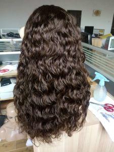 Qualità fatta a mano per le parrucche piene del merletto dei capelli umani delle donne