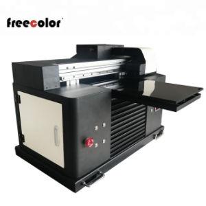 Tamaño mini impresora plana UV con sistema de circulación de tinta blanca