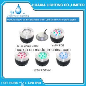 indicatore luminoso subacqueo sotterraneo del raggruppamento messo IP68 di 18W 316ss LED