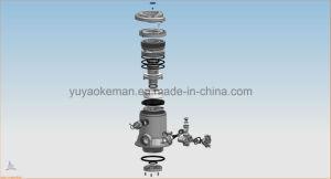 2t手動軟化剤のDownflowのタイプの陶磁器の移動ディスク制御機構弁
