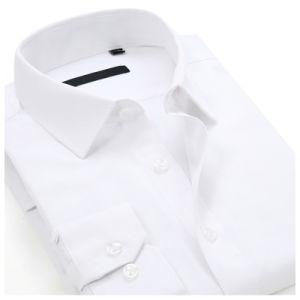 Para hombre 100% algodón camisa formal vestido de manga larga