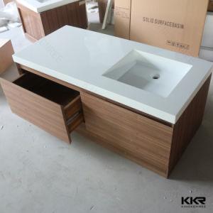 人工的な石造りの樹脂の固体表面のキャビネットの浴室の洗面器(180613)