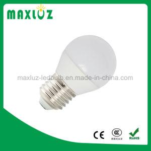 Intensidade de luz regulável E27 4W LED branco com lâmpada de uma bola de golfe