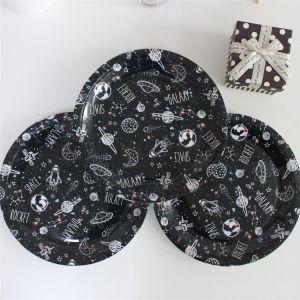 Nouvelle conception de la plaque de papier noir 7/18cm 9/23cm