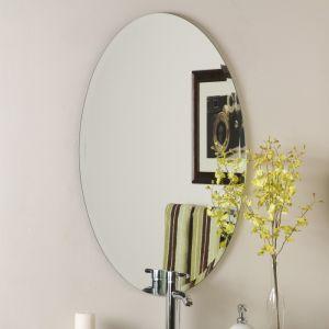 3-6mm de sécurité en aluminium/cuivre/argent gratuit Salle de bains montés au mur miroir biseauté de la vanité de décoration d'accueil