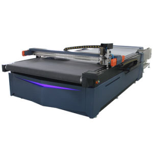 Velocidad automático CNC cuchilla redonda un paño de tela de la máquina de corte de cuero