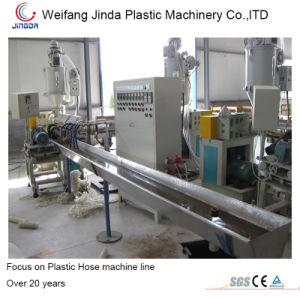 Espiral de PVC rígido PVC reforzado de la manguera de succión de la extrusora línea de maquinaria