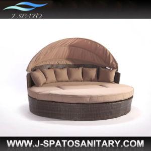 Lounger di vimini della base di Sun del sofà del rattan di nuovo modo (JS-R808)