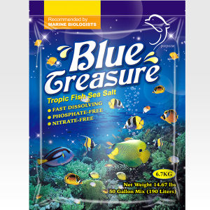 Os peixes de água salgada 20kg Tesouro azul