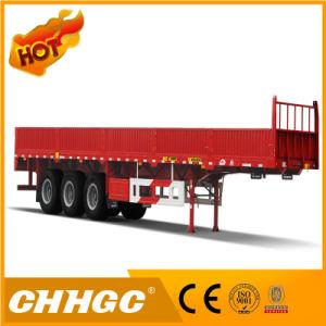 40t la paroi latérale de l'acier haute résistance Cargo semi-remorque de camion