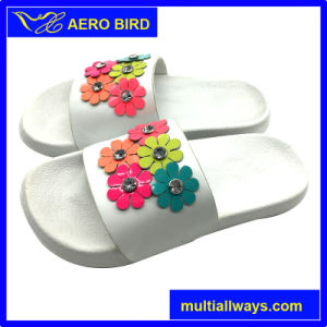 EVA sandale d'injection avec fleur Décoration de diamant