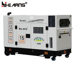 De met water gekoelde Super Stille Diesel Reeks van de Generator (gF-15kVA)