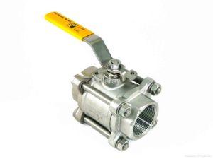 """11/4"""" Inox316/304 3PC com dispositivo de bloqueio da válvula de esfera Extremidades Roscadas"""