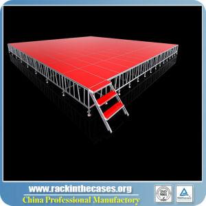 Outdoor Event Stage Equipmentのための携帯用Red Platform Aluminum Stage