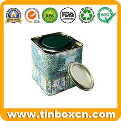 Plaza de la lata de café personalizada para Metal Caja de almacenamiento de alimentos