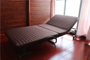Hotel plegable extra cama plegable con cubierta de tela colchón de espuma