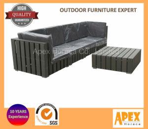 Outdoor canapé salon en bois Meubles de jardin en plastique AC1303 ...