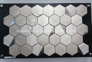 Hot estilo popular mezclado hexagonal Mosaico de aluminio para la decoración del hogar