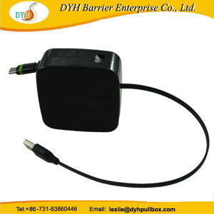 Durable extensible de 1 M El Banco de potencia Cargador Cable USB retráctil de tambor