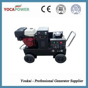 溶接工および空気圧縮機が付いている5.5kwガソリン電気産業発電機