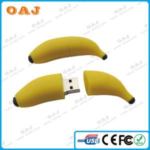 バナナのフルーツPVC USBのフラッシュ駆動機構