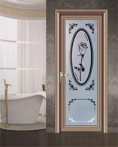 Cadre en aluminium Verre trempé Salle de bain Porte de douche ...