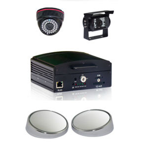 4-CH Full D1 H. 264 Vehicle/Mobile DVR mit Safe Lock Support HDD 1t &SD Card zu 128g max