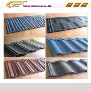 Pierre de couleur à bon marché de l'Afrique toit de tuiles en acier recouvert de carreaux de métal