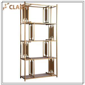 Estrutura metálica dourada Escritório Mobiliário moderno PRATELEIRA LATERAL